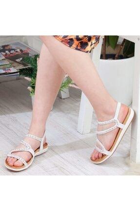 Guja Beyaz   Kadın Sandalet 10574