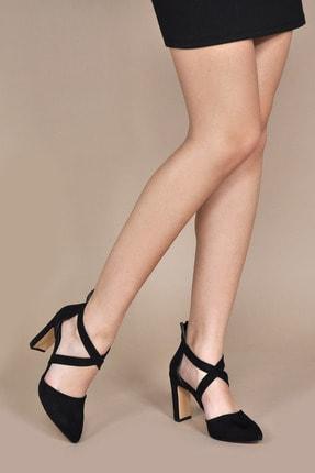 Kadın  Klasik Topuklu Ayakkabı 154265_Siyah-Süet