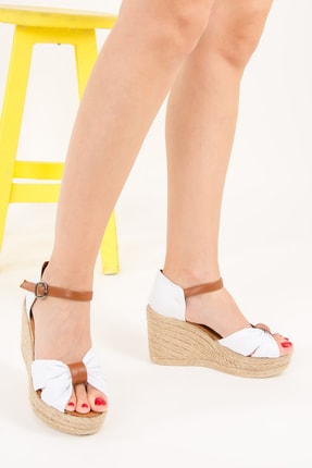 Fox Beyaz Kadın Dolgu Topuklu Ayakkabı F432162205