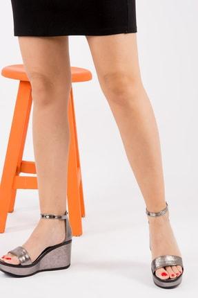 Fox Platin Kadın Dolgu Topuklu Ayakkabı H820000114