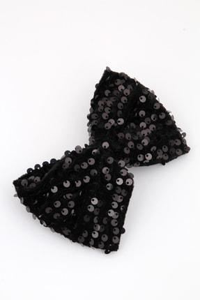 Pelin Aksesuar Siyah Pullu Otomatik Fiyonk Toka