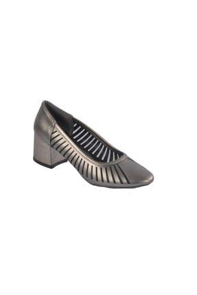 MAJE 2127 Platin Kadın Topuklu Ayakkabı