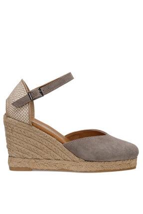 Nine West Fede Vizon Kadın Dolgu Topuk Sandalet