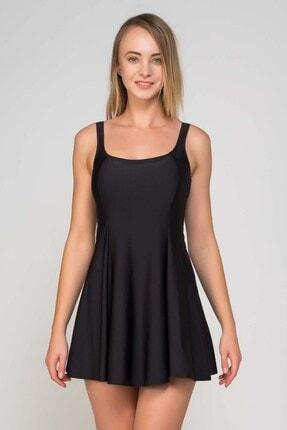 CAMASIRCITY Kadın Siyah Elbise Mayo