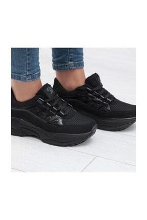 Almera Kadın Siyah Comfort Kalın Taban Spor Ayakkabı 871