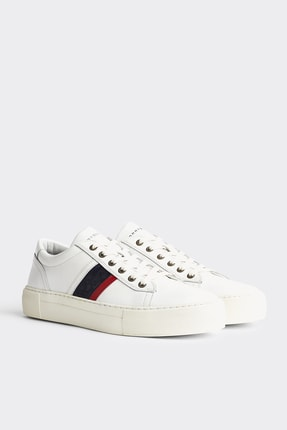 Tommy Hilfiger Erkek Fashion Th Leather Cupsole FM0FM02741