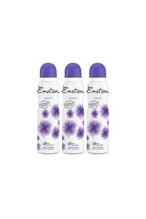 Emotion Violet Kadın Deodorant 150ml 3'lü