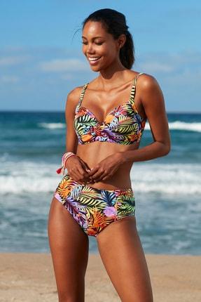 No Gossip Kadın Toparlayıcı Bikini Üst 209108-D Tropic