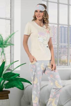 Cicimod M2355 Kısa Kol Likralı Pamuk Kadın Pijama Takımı