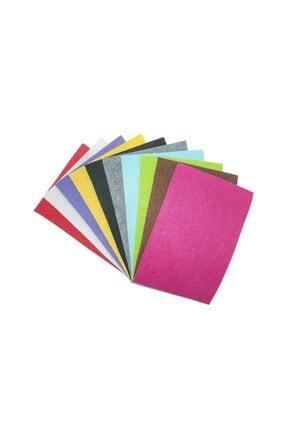 10 Adet Farklı Renklerde 20x30 cm Kalın Keçe Paketi KKS-40