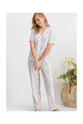 Arnetta Kısa Kol Önden Düğmeli Pijama Takım