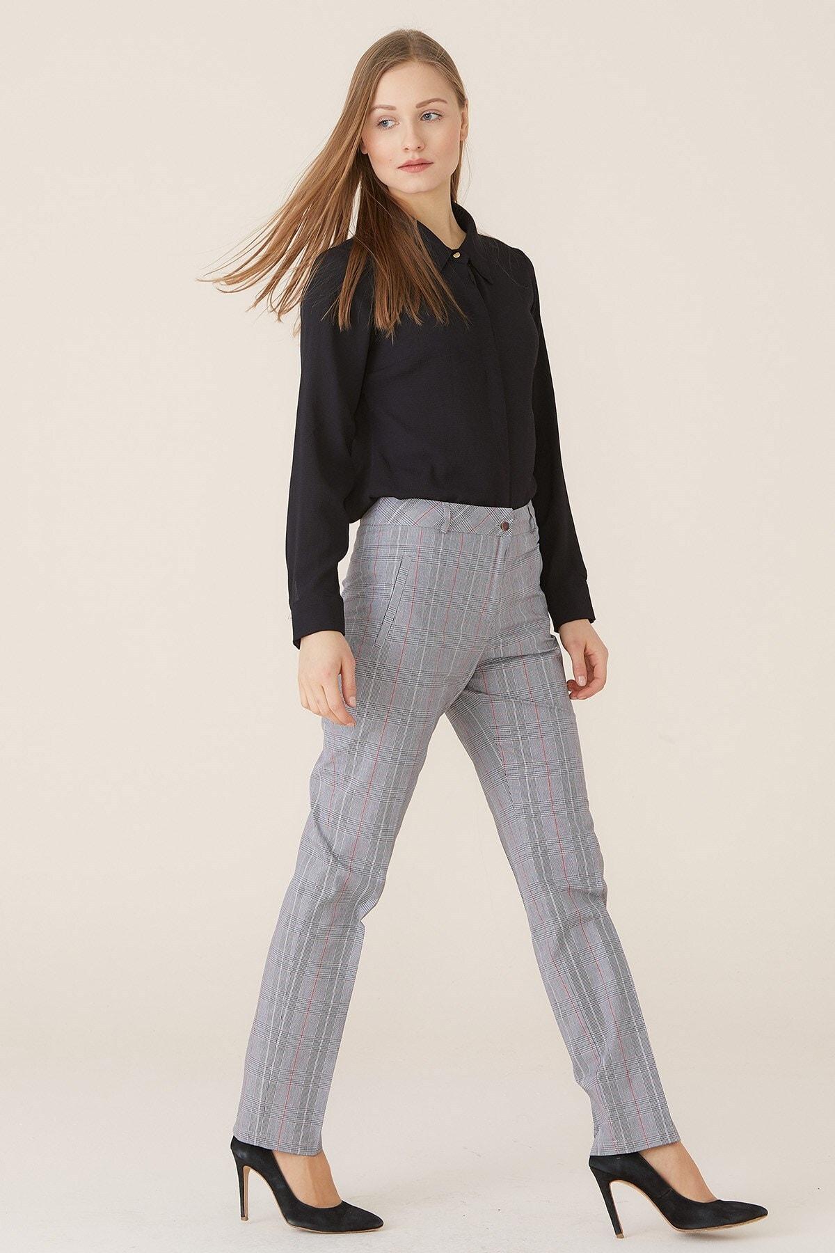 Nihan Kadın Kırmızı Pantolon X3236
