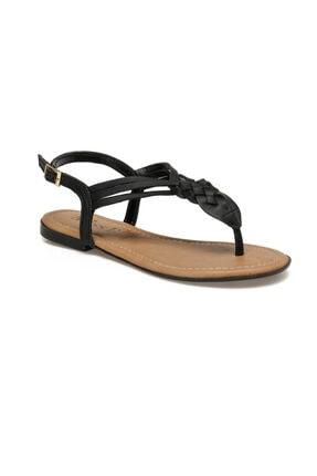 Missf DS19145 Siyah Kadın Sandalet