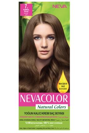 Neva Color Natural Colors 7. Kumral - Kalıcı Krem Saç Boyası Seti