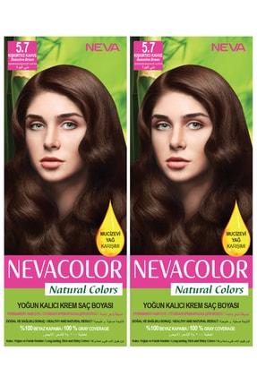 Neva Color 2'li Natural Colors 5.7 Kışkırtıcı Kahve - Kalıcı Krem Saç Boyası Seti