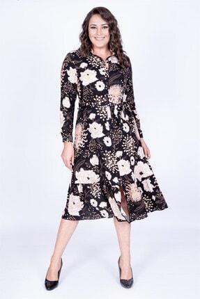 MYLİNE Kadın Eteği Fırfırlı Gömlek Elbise