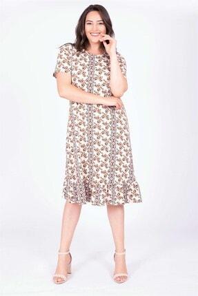 MYLİNE Kadın Eteği Volanlı Elbise