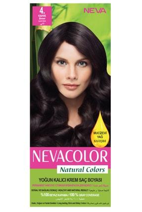 Neva Color Natural Colors 4. Kahve - Kalıcı Krem Saç Boyası Seti