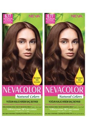 Neva Color 2'li Natural Colors 6.77 Açık Altın Sarısı - Kalıcı Krem Saç Boyası Seti