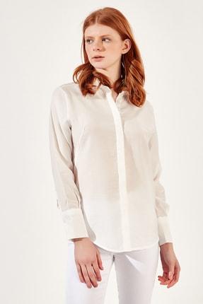 Manche Beyaz Kadıngömlek | Mk20s162593