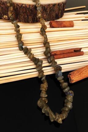 DR Stone Dr Stone Doğaltaş El Yapımı Labradorit Taşı Nepal Kadın Kolye Ktdr59