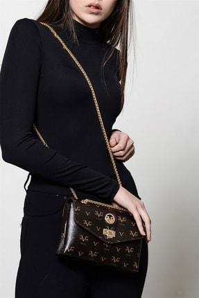 Versace 5555 Kahve Kadın Çapraz Çanta