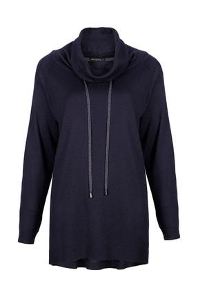 Butik Triko 2688 Bağcıklı Boğazlı Bluz