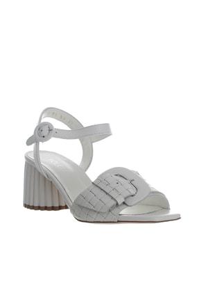 POLETTO Kadın Beyaz Sandalet Ayakkabı