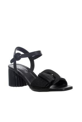 POLETTO Kadın Siyah Topuklu  Ayakkabı