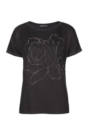 Butik Triko 3785 Çiçek Taşlı Bluz