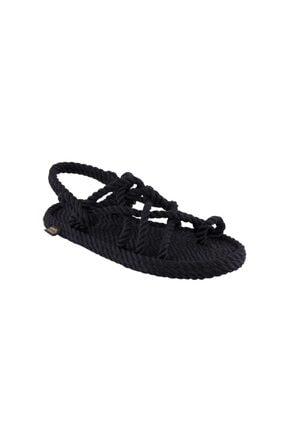 NOMADIC REPUBLIC Nomadic Kadın Halat & Ip Sandalet - Siyah