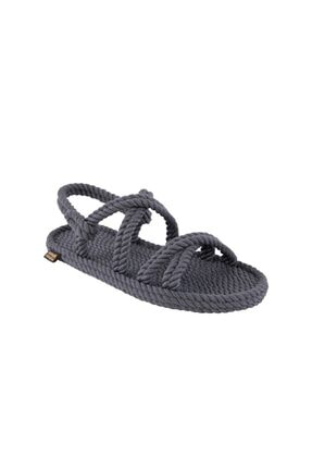 NOMADIC REPUBLIC Kadın Halat & Ip Sandalet - Gri