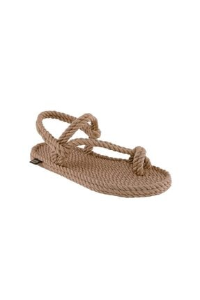 NOMADIC REPUBLIC Hawaii Kadın Halat & Ip Sandalet - Bej