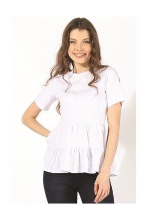 Twister Jeans Bts Büzgülü Tshirt 3002 Beyaz