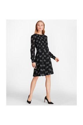 Brooks Brothers Kadın Siyah Viskoz Elbise 1-00107823