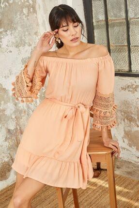 Mispacoz Kadın Elbise Pudra