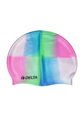 Delta Silikon Bone 10 Adet Yüzücü Havuz Deniz Bonesi (Gökkuşağı)