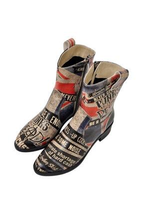Dogo British Punk Kadın Kovboy Çizme
