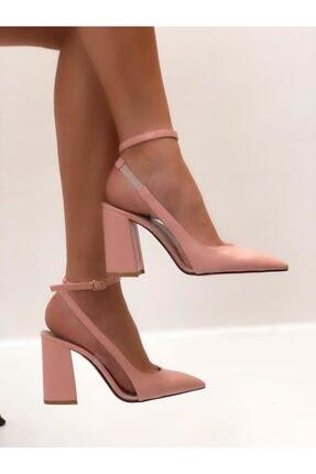 Pembe Transparan Topuklu Ayakkabı BS100016