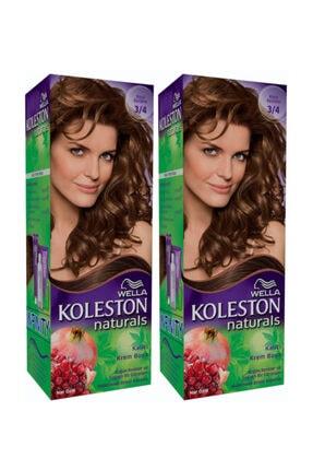 Wella 2'li Koleston Naturals 3/4 Koyu Kestane - Kalıcı Krem Saç Boyası