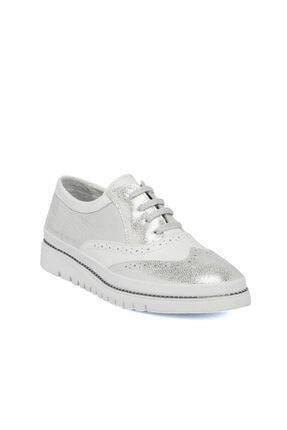Tergan Beyaz-simli Deri Kadın Ayakkabı 64434n0n