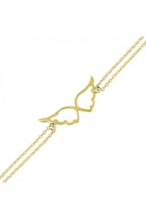 Altın Sepeti Kadın Melek Kanatlı Altın Bileklik