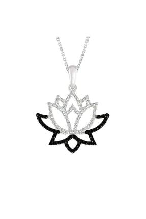 Altın Sepeti Gümüş Lotus Çiçeği Kolye