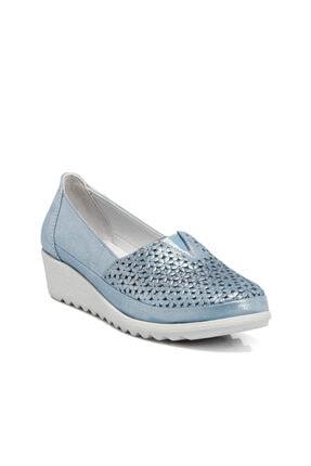 Tergan Mavi-simli Kadın Ayakkabı 64206n0o