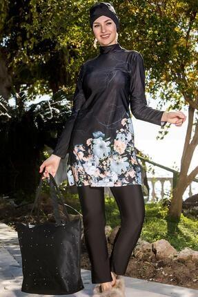 Armes Kadın Siyah Uzun Kol Tesettür Mayo