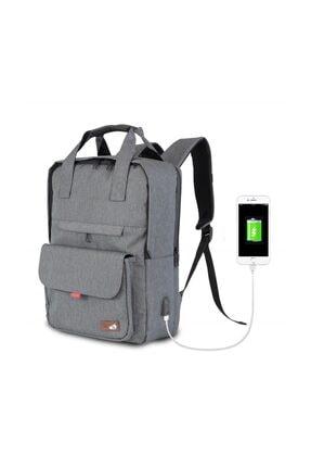 My Valice Smart Bag Usb Şarj Girişli Akıllı Sırt Çantası 1205 Gri