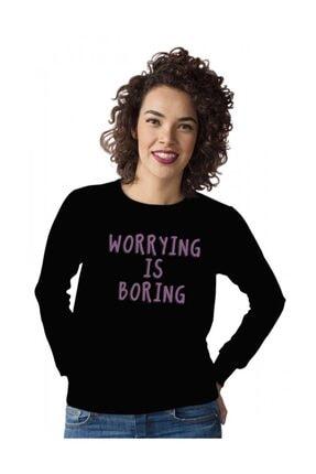 Angemiel Kadın Siyah Sweatshirt
