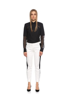 DKNY Beyaz Siyah Pantolon