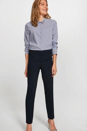 Faik Sönmez Kadın Lacivert Slim Fit Krep Pantolon 60052 U60052