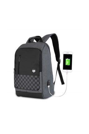 My Valice Smart Bag Usb Şarj Girişli Akıllı Sırt Çantası 1204 Gri